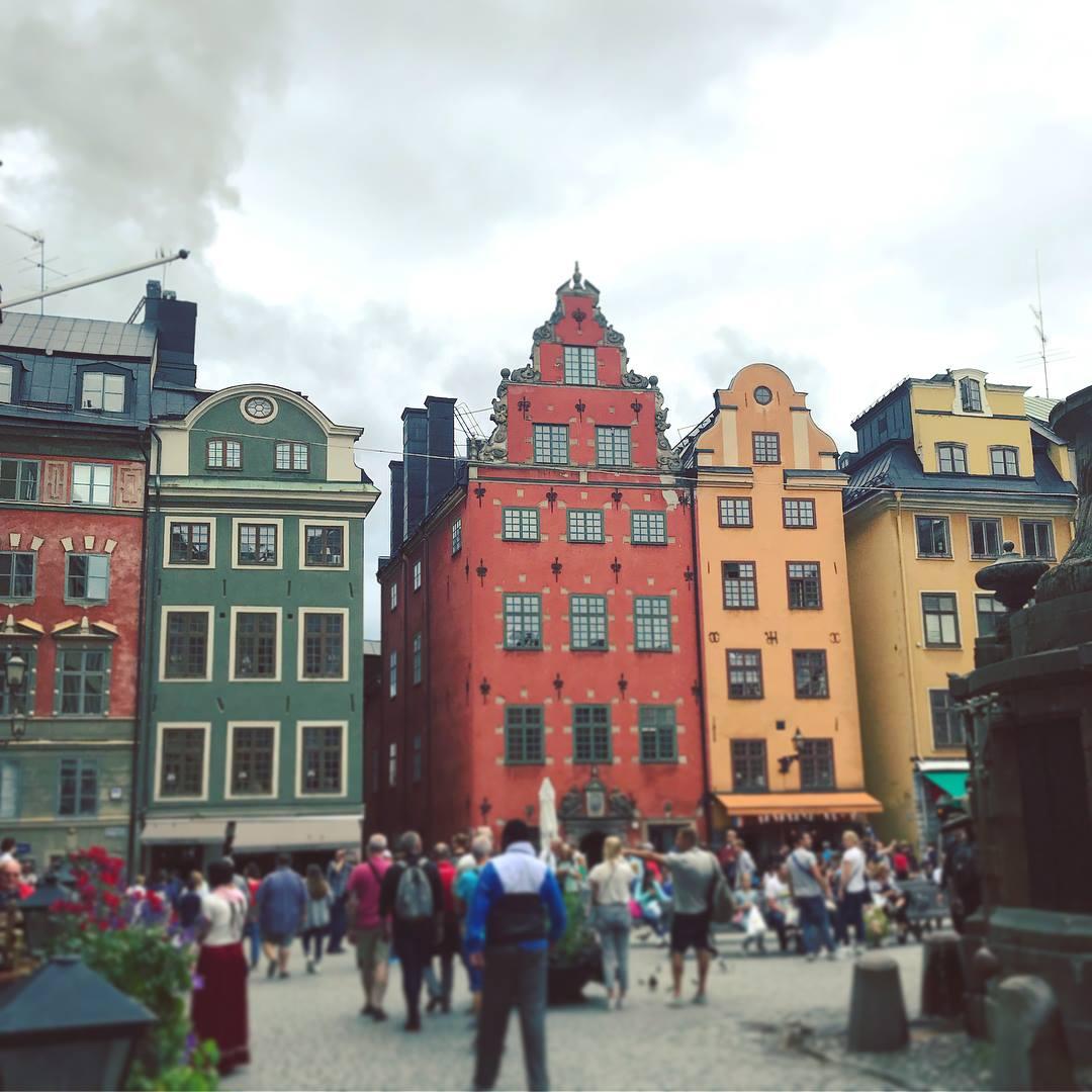 Buildings in Gamla Stan in Stockholm, Sweden