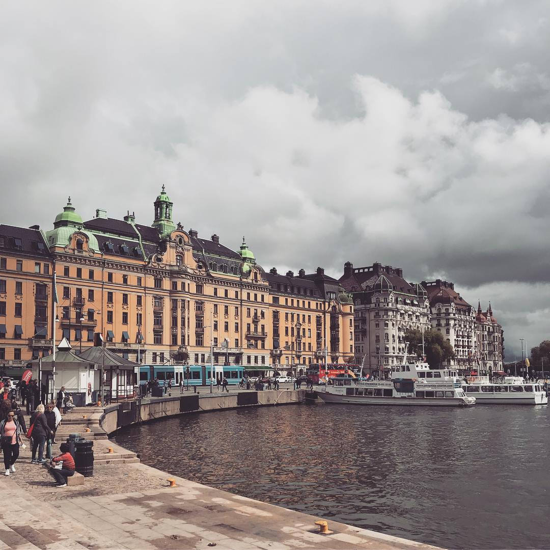 Harbor in Stockholm, Sweden