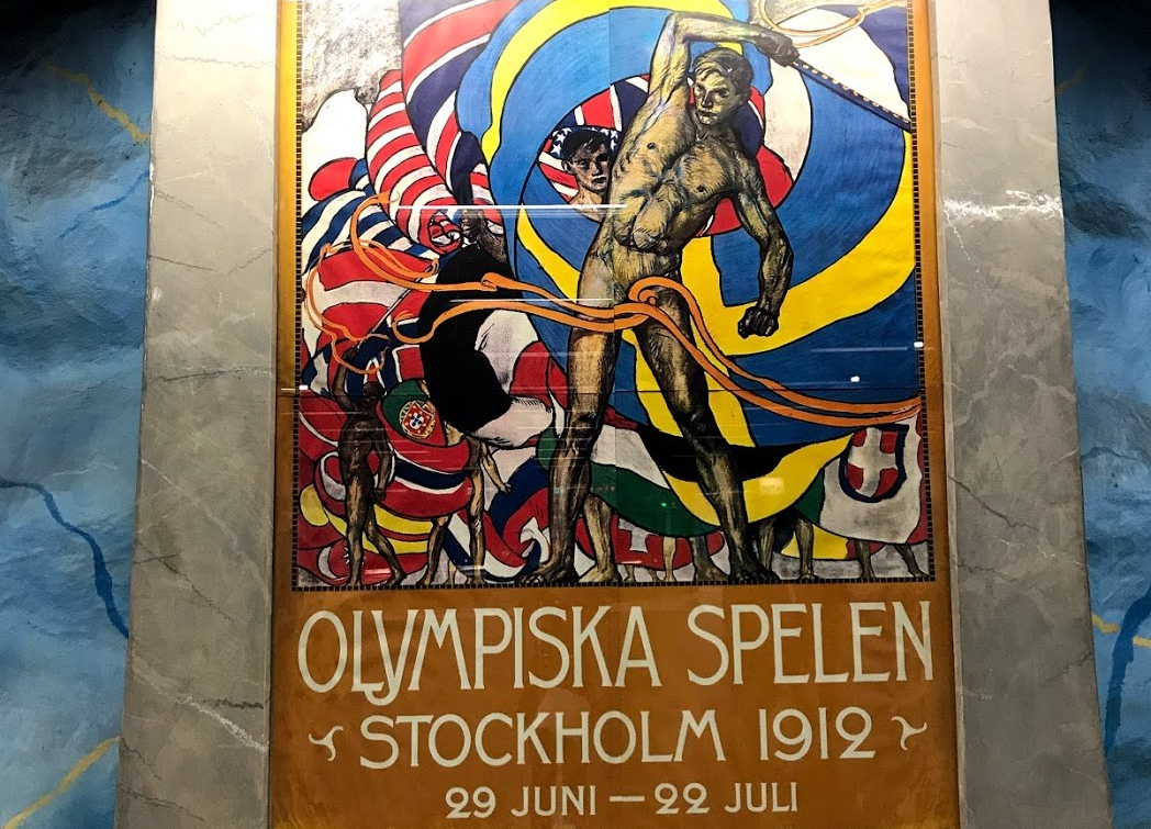 Poster from Stockholm Olympics in 1912